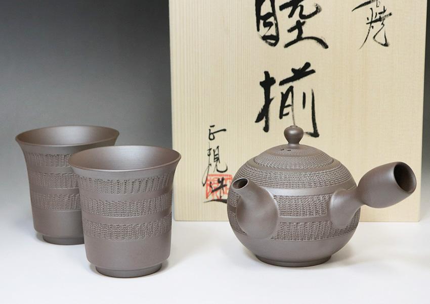 Banko Pottery Shidei Teapots By Tachi Masaki