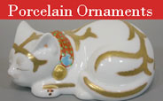 Japanese Porcelain & Pottery - cats ornaments